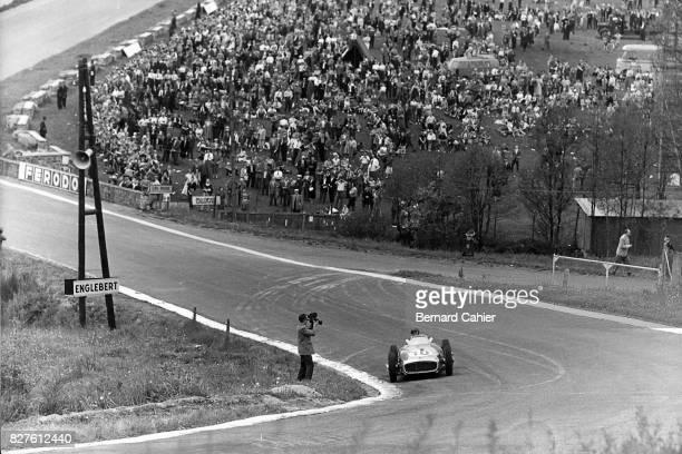 Juan Manuel Fangio Mercedes W196 Grand Prix of Belgium Spa Francorchamps 05 June 1955