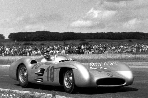 Juan Manuel Fangio, Mercedes W196, Grand Prix of France, Reims, 04 July 1954.