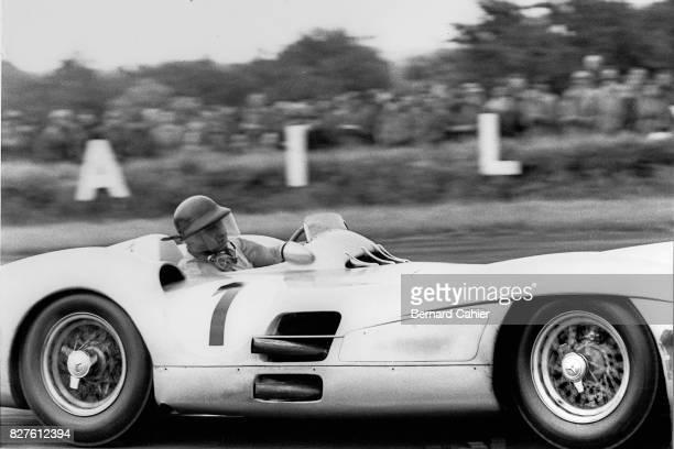 Juan Manuel Fangio, Mercedes W196, Grand Prix of Great Britain, Silverstone, 17 July 1954.