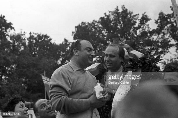 Juan Manuel Fangio Mercedes W196 Grand Prix of Switzerland Circuit Bremgarten 22 August 1954 Juan Manuel Fangio winner of the 1954 Swiss Grand Prix...
