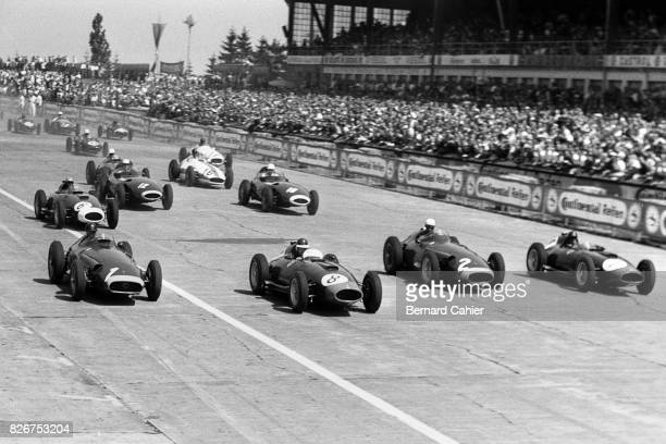 Juan Manuel Fangio, Mike Hawthorn, Jean Behra, Peter Collins, Maserati 250F, Ferrari 801, Grand Prix of Germany, Nurburgring, 04 August 1957.