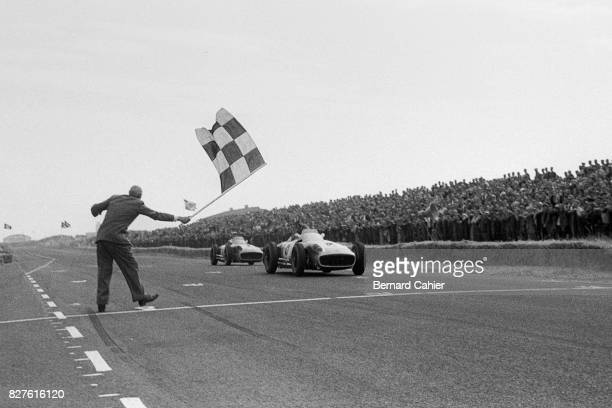 Juan Manuel Fangio, Stirling Moss, Mercedes W196, Grand Prix of Netherlands, Zandvoort, 19 June 1955.