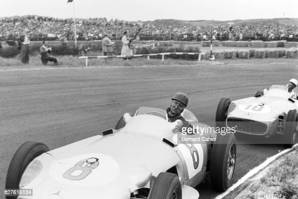 Juan Manuel Fangio Stirling Moss Mercedes W196 Grand Prix of Netherlands Zandvoort 19 June 1955