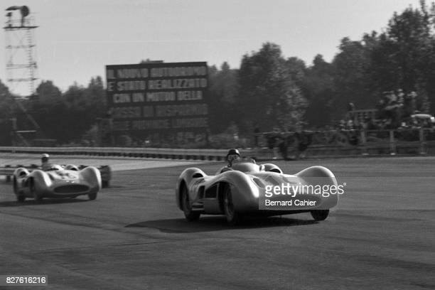 Juan Manuel Fangio Stirling Moss Mercedes W196 Grand Prix of Italy Monza 11 September 1955