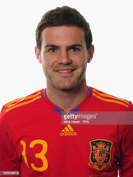 Juan Manuel Mata of Spain poses during the official Fifa World Cup 2010 portrait session on June 13 2010 in Potchefstroom South Africa