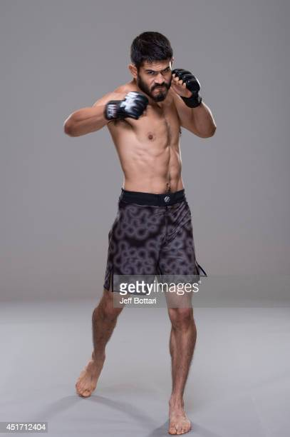 Juan Manuel Puig Carreon poses for a portrait during a UFC photo session at the Mandalay Bay Convention Center on July 3 2014 in Las Vegas Nevada