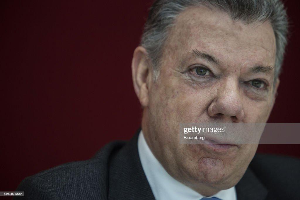 Colombia's President Juan Manuel Santos Interview : News Photo