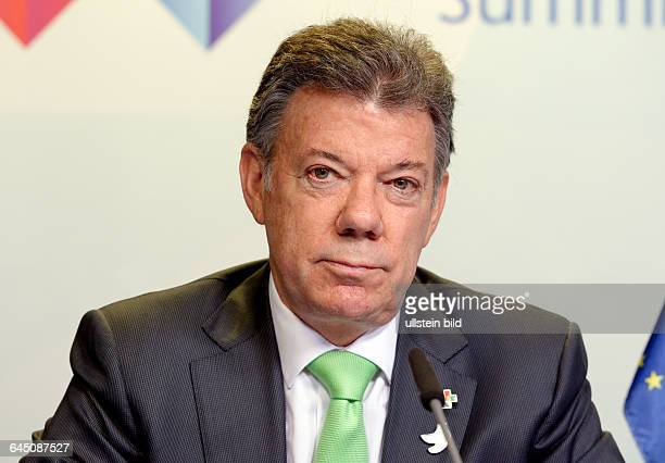 Juan Manuel SANTOS , President of Colombia , during EU-CELAC summit