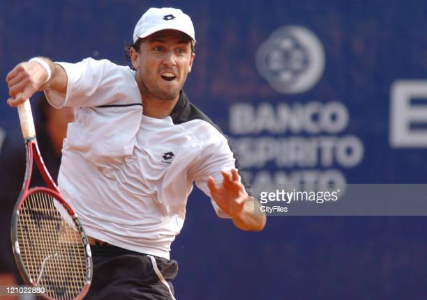 Juan Marin in action against Albert Portas during the first round of the 2006 Estoril Open at Estadio Nacional in Estoril Portugal on May 2 2006