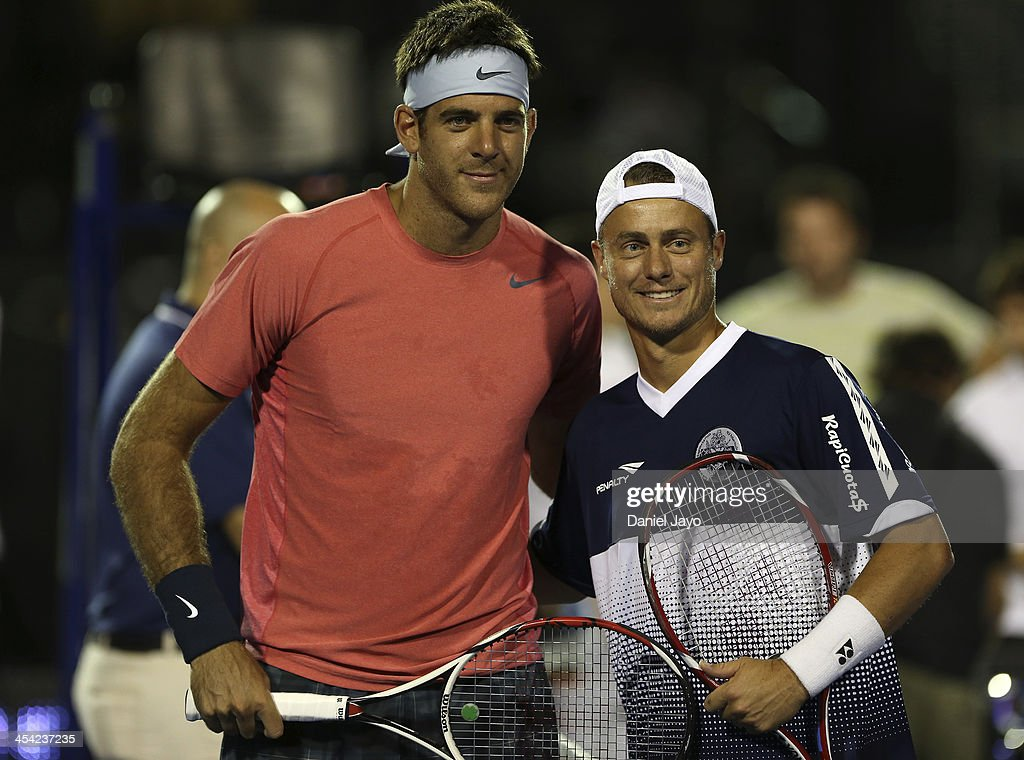 Juan Martin Del Potro v Lleyton Hewitt - Exhibition Match : News Photo
