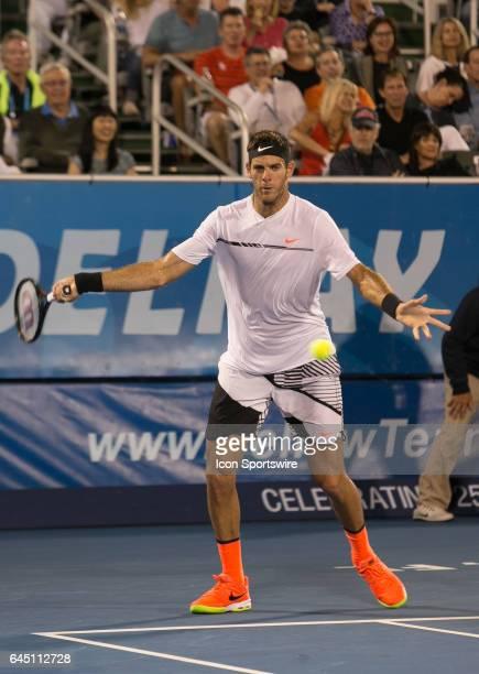Juan Martin del Potro defeats Sam Querrey during the Quarterfinals of the ATP Delray Beach Open on February 24, 2017 at the Delray Beach Stadium &...