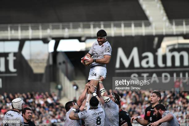 Juan Martin Fernandez Lobbe of Toulon during the French Top 14 match between Lyon OU and RC Toulon at Gerland Stadium on March 3 2018 in Lyon France