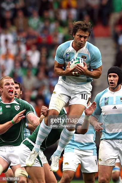 Juan Martin Hernandez during the IRB World Cup rugby match between Ireland and Argentina.