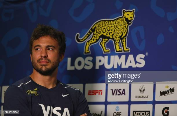 Juan Martin Hernandez is pictured during Argentina Media Access at The Lensbury on November 6 2017 in Teddington England