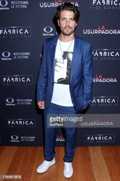 Juan Martin Jauregui poses for photos during a red carpet of premiere 'La Usurpadora' Tv Screening soap opera at Club de Banqueros on August 29 2019...