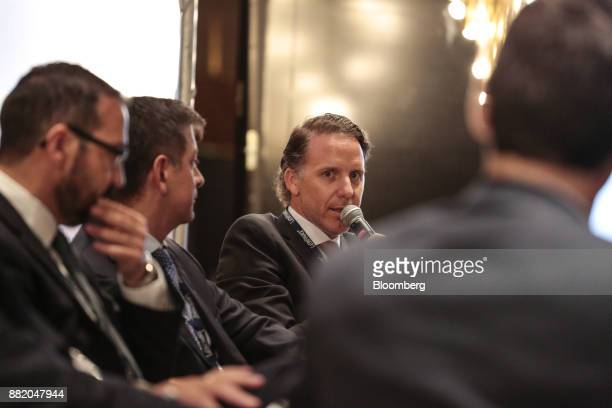 Juan Martin Molinari director of investment banking at Advanced Capital Securities SA speaks during the Argentina SubSovereign and Infrastructure...