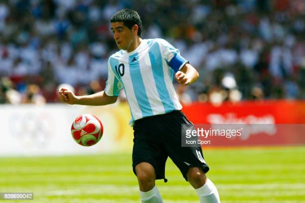 Juan Martin RIQUELME Argentine / Nigeria Finale du Football Jeux Olympiques 2008 Pekin