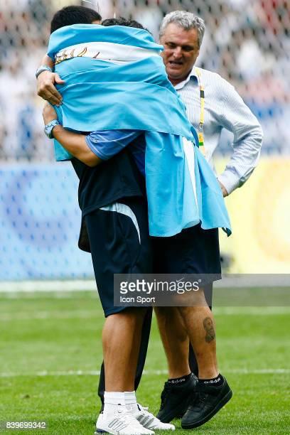Juan Martin RIQUELME / Diego Armando MARADONA Argentine / Nigeria Finale du Football Jeux Olympiques 2008 Pekin