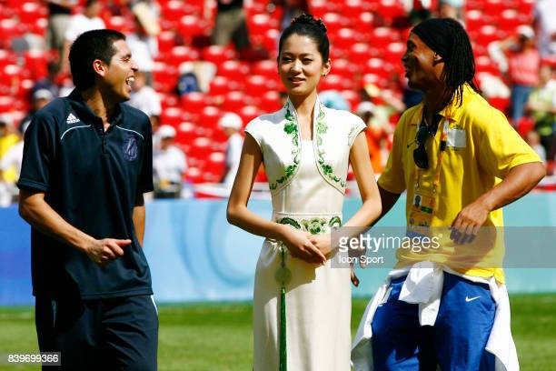 Juan Martin RIQUELME / RONALDINHO Argentine / Nigeria Finale du Football Jeux Olympiques 2008 Pekin