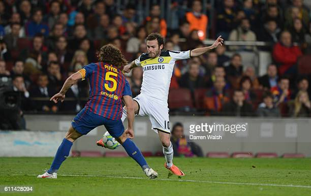 Juan Mata of Chelsea during the UEFA Champions League Semi Final second leg match between FC Barcelona and Chelsea FC at Camp Nou on April 24 2012 in...