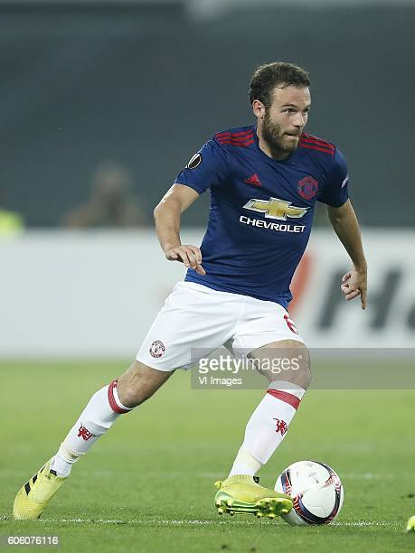 Juan Mata of Manchester United during the Europa League group A match between Feyenoord and Manchester Uinited on September 15 2016 at the Kuip...