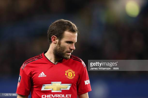 Juan Mata of Manchester United during the FA Cup Fifth Round match between Chelsea and Manchester United at Stamford Bridge on February 18 2019 in...