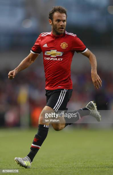 Juan Mata of Manchester United during the International Champions Cup match between Manchester United and Sampdoria at Aviva Stadium on August 2 2017...
