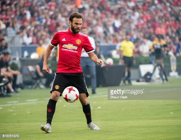 Juan Mata of Manchester United during the Los Angeles Galaxy's friendly match against Manchester United at the StubHub Center on July 15 2017 in...