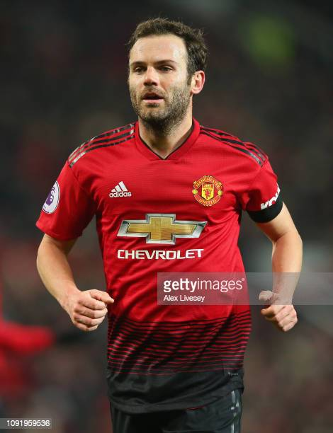 Juan Mata of Manchester United during the Premier League match between Manchester United and Burnley at Old Trafford on January 29 2019 in Manchester...