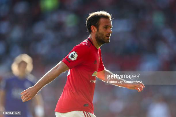 Juan Mata of Manchester United during the Premier League match between Manchester United and Leicester City at Old Trafford on September 14 2019 in...