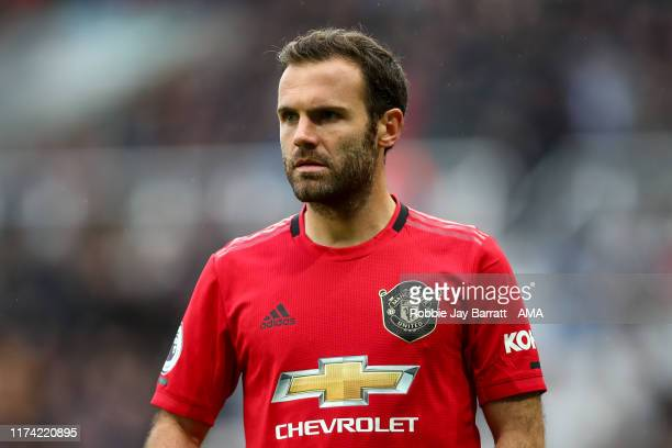Juan Mata of Manchester United during the Premier League match between Newcastle United and Manchester United at St James Park on October 6 2019 in...