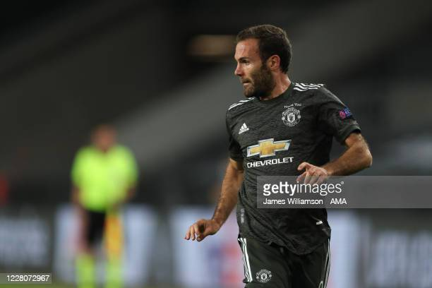 Juan Mata of Manchester United during the UEFA Europa League Semi Final between Sevilla and Manchester United at RheinEnergieStadion on August 16,...