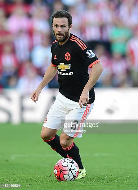 Juan Mata of Manchester United in action during the Barclays Premier League match between Southampton and Manchester United at St Mary's Stadium on...