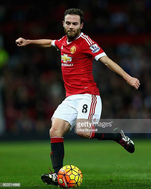 Juan Mata of Manchester United in action during the Barclays Premier League match between Manchester United and Norwich City at Old Trafford on...