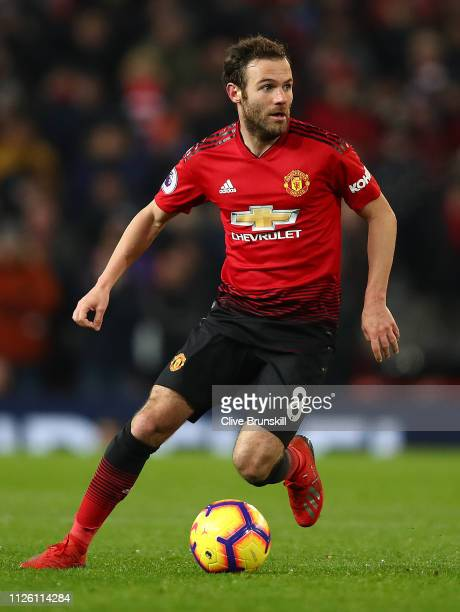 Juan Mata of Manchester United in action during the Premier League match between Manchester United and Burnley FC at Old Trafford on January 29 2019...