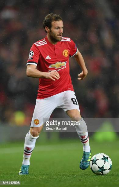 Juan Mata of Manchester United in action during the UEFA Champions League Group A match between Manchester United and FC Basel at Old Trafford on...