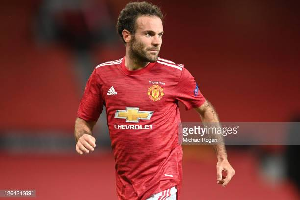 Juan Mata of Manchester United in action during the UEFA Europa League round of 16 second leg match between Manchester United and LASK at Old...
