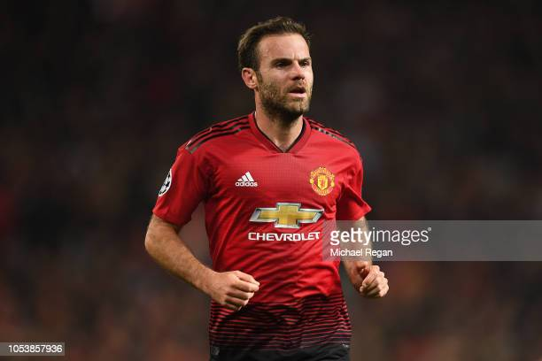 Juan Mata of Manchester United looks on during the Group H match of the UEFA Champions League between Manchester United and Juventus at Old Trafford...