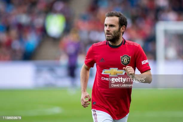 Juan Mata of Manchester United looks on during the PreSeason Friendly match between Kristiansund BK and Manchester United at Ullevaal Stadion on July...
