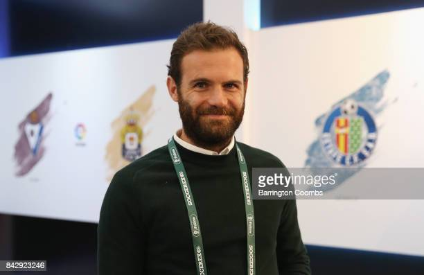 Juan Mata of Manchester United looks on in the La Liga lounge during day 2 of the Soccerex Global Convention at Manchester Central Convention Complex...