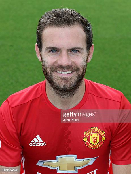 Juan Mata of Manchester United poses for a portrait at the Manchester United Official Photocall on September 19 2016 in Manchester England