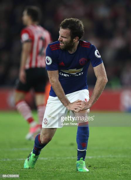 Juan Mata of Manchester United reacts during the Premier League match between Southampton and Manchester United at St Mary's Stadium on May 17 2017...
