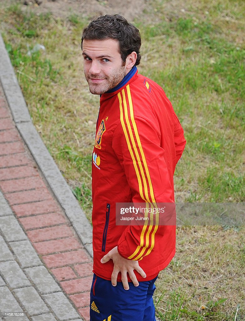 Juan Mata of Spain smiles after attending a press conference ahead of UEFA EURO 2012 on June 7, 2012 in Gniewino, Poland.