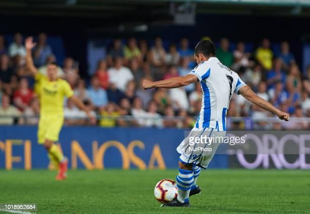 Juan Miguel Jimenez Juanmi of Real Sociedad scores a goal during the La Liga match between Villarreal CF and Real Sociedad at La Ceramica Stadium on...