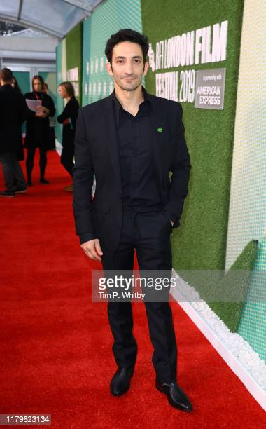 Juan Minujín attends The Two Popes International Premiere during the 63rd BFI London Film Festival at the Embankment Gardens Cinema on October 07...