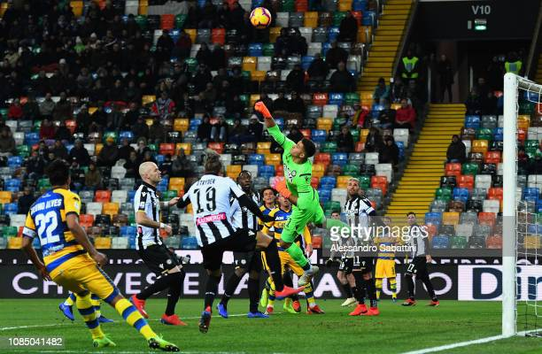 Juan Musso of Udinese Calcio in action during the Serie A match between Udinese and Parma Calcio at Stadio Friuli on January 19 2019 in Udine Italy