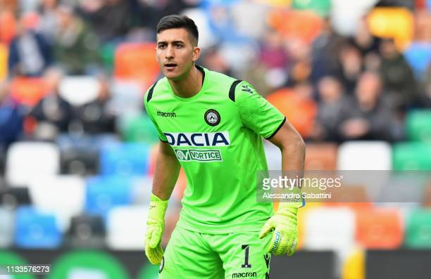 Juan Musso of Udinese Calcio looks on during the Serie A match between Udinese and Bologna FC at Stadio Friuli on March 3 2019 in Udine Italy