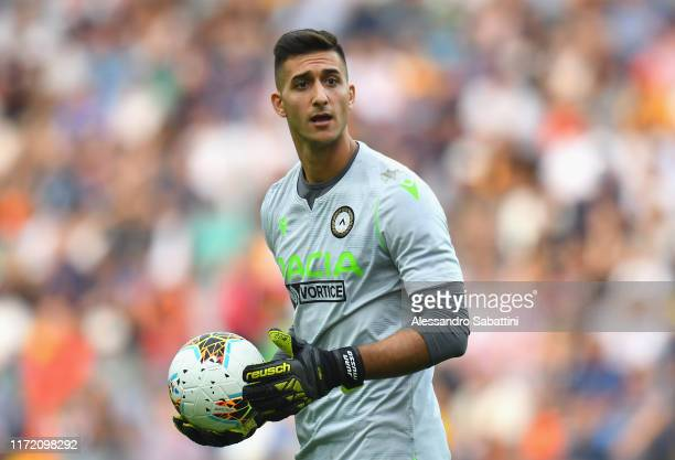 Juan Musso of Udinese Calcio looks on during the Serie A match between Udinese Calcio and Bologna FC at Stadio Friuli on September 29 2019 in Udine...