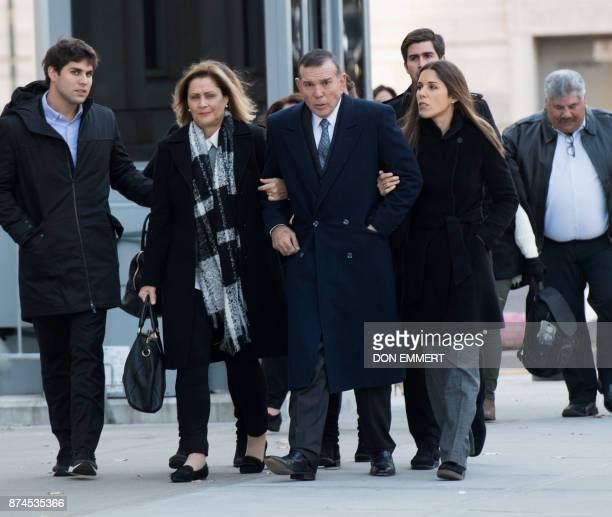 Juan Ángel Napout of Paraguay one of three defendants in the FIFA scand on trial in Brooklyn arrives at the Federal Courthouse in Brooklyn on...