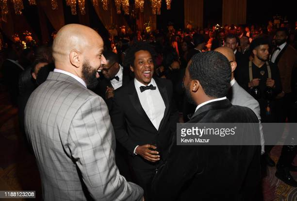 Juan OG Perez and JAYZ attend the Shawn Carter Foundation Gala at Hard Rock Live in the Seminole Hard Rock Hotel Casino on November 16 2019 in...